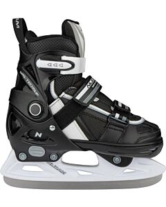 NIJDAM - Ijshockeyschaats junior Verstelbaar - zwart combi