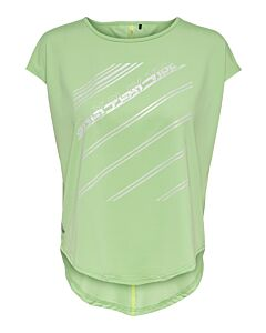 ONLY PLAY - Manon curved ss training tee - Groenlicht-Multicolour