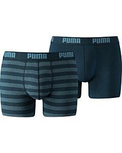PUMA ACCESSOIRES - puma stripe 1515 boxer 2p - Blauwdonker