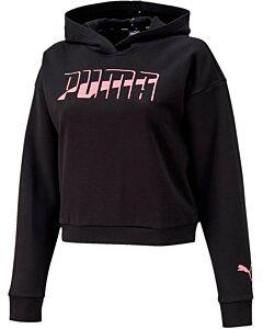PUMA - womens hoodie fl - Zwart