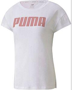 PUMA - active logo tee van/voor - Rozelicht-Multicolour