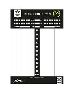 HARROWS - MvG Darts Scoreboard - wit combi
