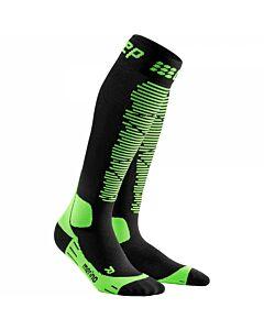 CEP - Ski Merino socks bla/gre - zwart combi