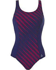 TWEKA - pool swimsuit shape soft cup - Blauwdonker-Multicolour
