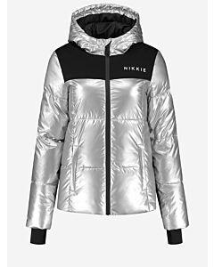 NIKKIE - Logo Silver Ski Jacket - zilvergrijs