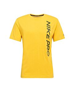 NIKE - nike pro men's short-sleeve top - Geel