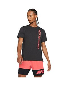 NIKE - nike pro men's short-sleeve top - Zwart-Multicolour