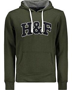 HAZE&FINN - Hoody H&F - donkergroen combi