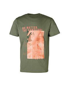 BRUNOTTI - tim-print mens t-shirt - Groen