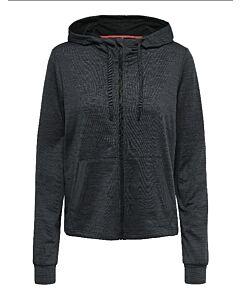 ONLY PLAY - onporlana zip hood sweat - Zwart-Multicolour
