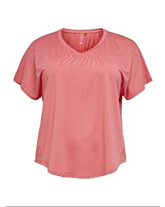 ONLY PLAY - onpjensa curved ss train tee - curv - Roze-Multicolour