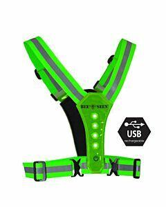 Bee Sports - Led Harness usb green - groen