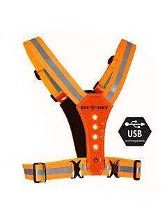 Bee Sports - Led Harness usb orange - oranje