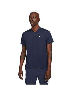 NIKE - nikecourt dri-fit men's tennis polo - Blauw-Multicolour