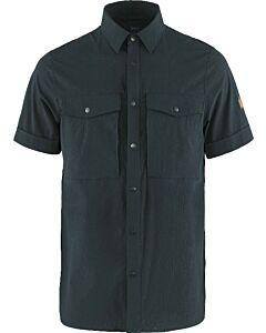FJALLRAVEN - Abisko trekking shirt ss M - marineblauw