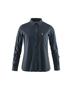 FJALLRAVEN - Ovik Lite shirt ls W - marineblauw
