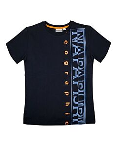 NAPAPIJRI - K Sadyr logo - marineblauw