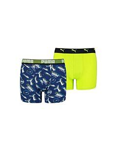 PUMA ACCESSOIRES - puma boys alpha print boxer 2p - Blauw-Multicolour