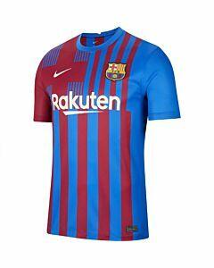 NIKE - fc barcelona 2021/22 stadium home m - Blauw