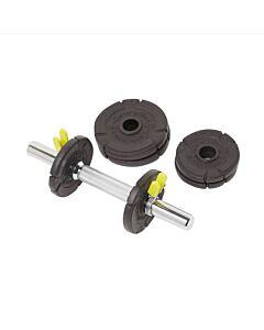 ENERGETICS - 10kg cast iron set (30mm) - Zwart