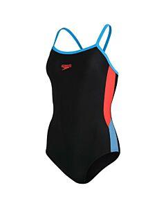SPEEDO - dive thinstr muscleb 1p bla/ora - Zwart-Multicolour