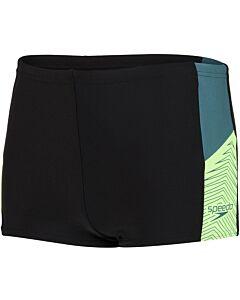 SPEEDO - dive aqsh bla/grn - Zwart-Multicolour