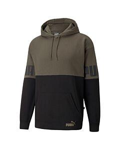 PUMA - puma power colorblock hoodie - Groen