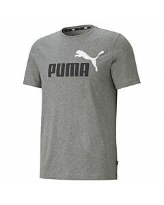 PUMA - ess+ 2 col logo tee - Grijs