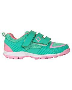 BRABO - bf1011a brabo shoe velcro green/pin - Transparant