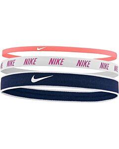 NIKE ACCESSOIRES - nike mixed width headbands 3pk - Rood