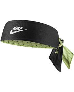 NIKE ACCESSOIRES - nike mens world tour head tie reversible printed - Zwart