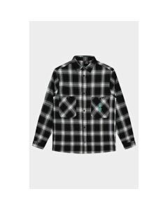 BLACK BANANAS - signature flannel - Zwart-Wit