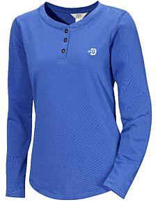 DIDRIKSONS - Hilda Woman's Long Sleeve T-shirt - blauw combi