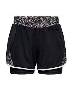 ONLY PLAY - onpjudiea aop loose train shorts - Zwart-Multicolour