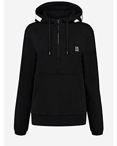 NIKKIE - Nikkie Logo zipper hoodie - zwart combi