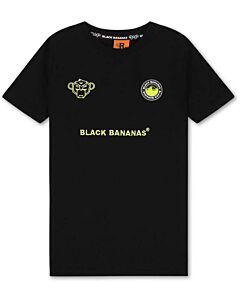 BLACK BANANAS - jr monkey tron tee - Zwart-Groen