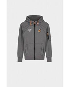 BLACK BANANAS - jr trooper zip hoody - Grijs-Multicolour