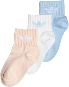 ADIDAS - kids ankle sock - wit combi