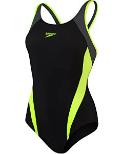 SPEEDO - splice muscleb bla/yel - Zwart-Multicolour