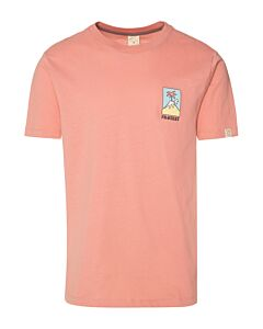 PROTEST - isac t-shirt - Bruin-Multicolour