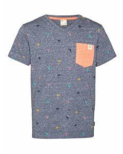 PROTEST - valor jr t-shirt - Marine-Multicolour