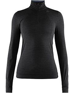 CRAFT - fuseknit comfort zip w - Zwart