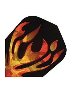 ENGELHART - Flight hologram flames 1620 - Zwart-Geel