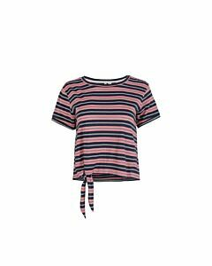 ONEILL - lw striped knotted  t-shirt - Roze-Multicolour
