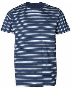 BRUNOTTI - tim twin stripe mens t-shirt - Blauwdonker-Wit