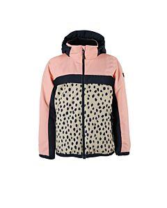 BRUNOTTI - ealan-ao-jr girls snowjacket - Rood-Multicolour