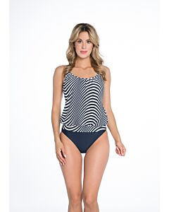 BOMAIN - ladies tankini zebra - Marine