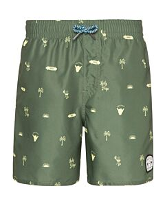 PROTEST - jorn jr beachshort - Groen-Multicolour