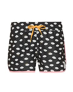 PROTEST - kiri jr beachshort - Zwart-Multicolour