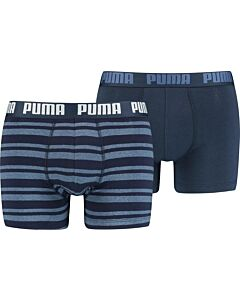 PUMA ACCESSOIRES - puma heritage stripe boxer 2p - Blauw-Multicolour